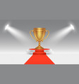competition award victory podium sport or vector image vector image