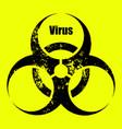 computer virus alert grunge style sign yellow vector image