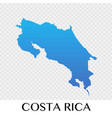 costa rica map in north america continent design vector image