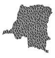 democratic republic of the congo map gdp vector image