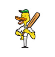 Duck Cricket Player Batsman Standing vector image vector image