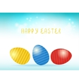 Easter card with easter eggs vector image vector image