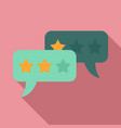feedback chat icon flat style vector image vector image