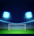 football stadium with lights and tribunes vector image vector image