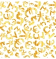 golden signs world currencies on white vector image vector image