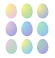 gradient easter eggs vector image vector image