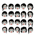 hair styles silhouette vector image