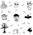 Halloween zombie and ghost doodle vector image vector image