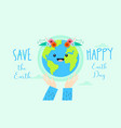 happy international earth day background vector image vector image