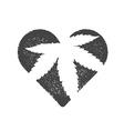 Heart symbol with cannabis leaf inside Marijuana vector image vector image