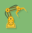 Icon of Industrial manipulator or mechanical robot vector image vector image