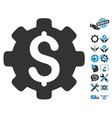 Industrial Capital Flat Icon With Tools vector image vector image