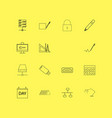 internet technologies linear icon set simple vector image vector image