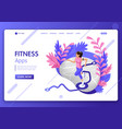 landing page isometric concept vector image