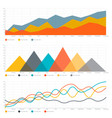 line chart and triangle chart vector image vector image