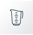measuring cup icon line symbol premium quality vector image