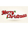 Merry Christmas text worked out to details art vector image