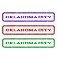oklahoma city watermark stamp vector image vector image