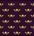 ornate seamless pattern golden flowers and polka vector image vector image