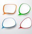 Paper set of rounded speech bubble vector image