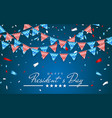 patriotic background with bunting flags for happy vector image vector image