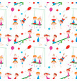 pattern of the playful children vector image