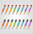pencil background collection vector image vector image