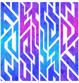 purple color geometric seamless pattern vector image