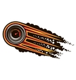 Red hot speeding motorsports icon vector image vector image