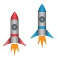 Rocket set vector image vector image