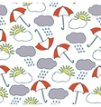 Seamless Pattern with Clouds Sun and vector image vector image