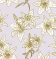 seamless wallpaper with beautiful flowers vector image vector image