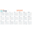 set linear icons sport vector image vector image