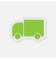 simple green icon - lorry car vector image vector image
