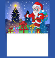 small frame with santa claus 3 vector image vector image