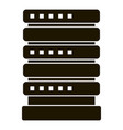 smart house server icon simple style vector image