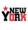 T shirt typography New York star vector image vector image