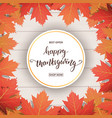 thanksgiving day happy thanksgiving calligraphy vector image vector image
