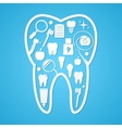 Tooth hygiene and threatment symbols vector image vector image