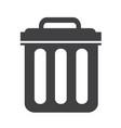 trash can icon symbol vector image