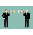 Two angry businessman are shouting on each other vector image vector image