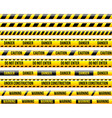 under construstion yellow stripes isolated set vector image vector image