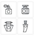 Vintage perfume icons set vector image