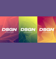 vivid gradient abstract designs colorful covers vector image