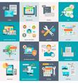 Website Development Concept Icons vector image
