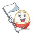 with flag rambutan mascot cartoon style vector image vector image
