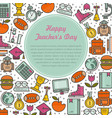 teacher s day with text vector image
