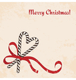 Christmas candies cane with ribbon vector image