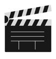Cinema film clapper board vector image