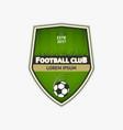 green football logo template soccer logotype vector image